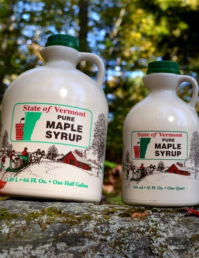 Maple Syrup in Vermont State Plastic Jug